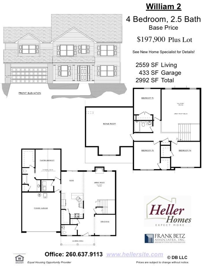 William 2 Handout - Heller Homes' Base Floor Plan William 2 Handout