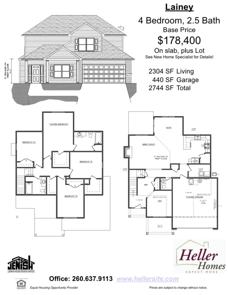 Lainey Handout - Heller Homes Floor Plan Lainey