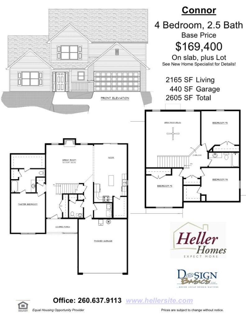 Connor Handout - Heller Homes Floor Plan Connor