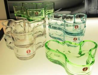 Glass-skåler fra Iittala i flotte vårfarger.
