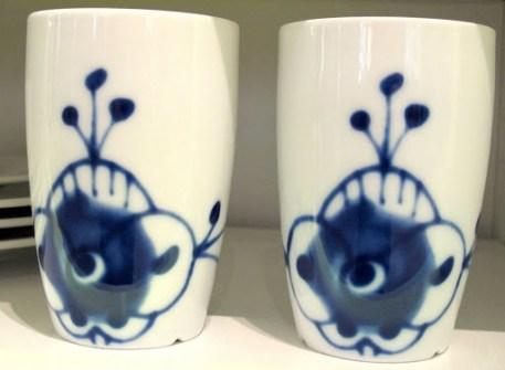 Polhem. Porsgrund Porselens Maxistå-kopper.