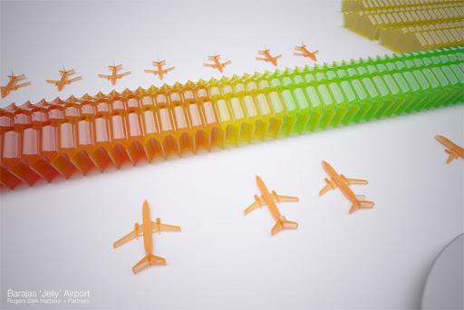 Flyplass – selvsagt laget av gelé.