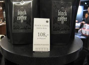 Spesialbutikk for kaffe. Fantastisk kreativt med denne Black Coffee.