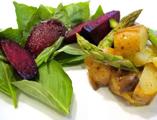 Saltbakte grønnsaker