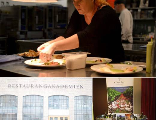 Her er jeg skikkelig konsentrert før levering av ferdig rett på Cono Surs nordiske matkonkurranse på Restaurangakademien i Stockholm. Sveriges svar på Kulinarisk akademi.