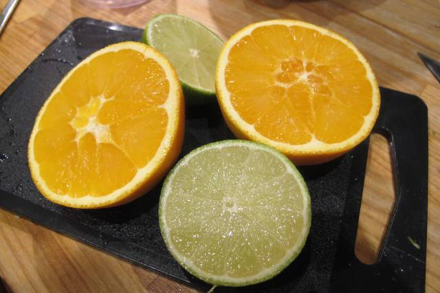 appelsin og lime