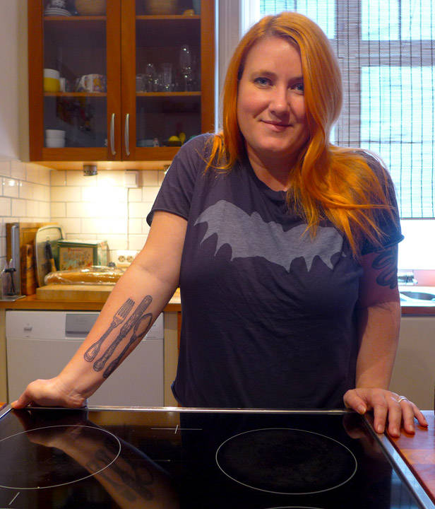 Meg på kjøkkenet
