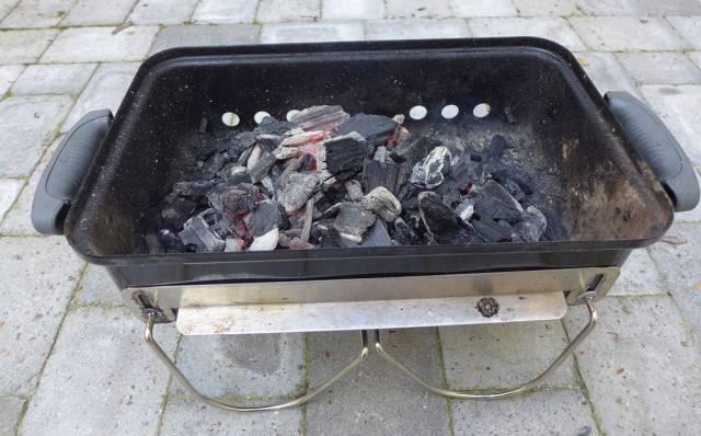 Grillen er klar til bruk.