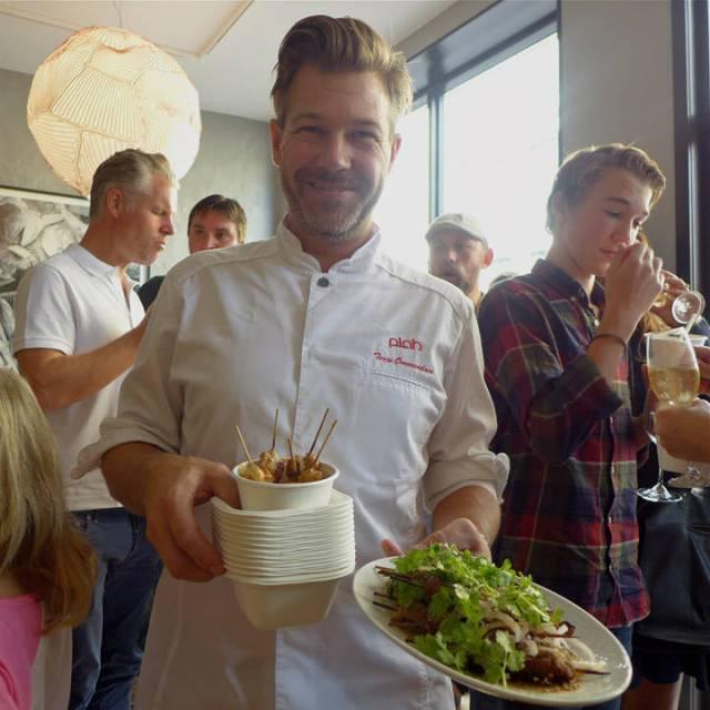 Terje Ommundsen mannen bak Plah. Her fra åpningsfesten av Plah Home sist helg.