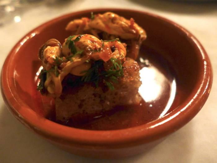 Den beste småretten: Spicy blåskjell på krydderbrød.