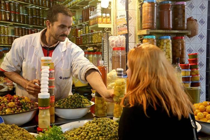 Her lukter jeg på sitronene i Marrakech.