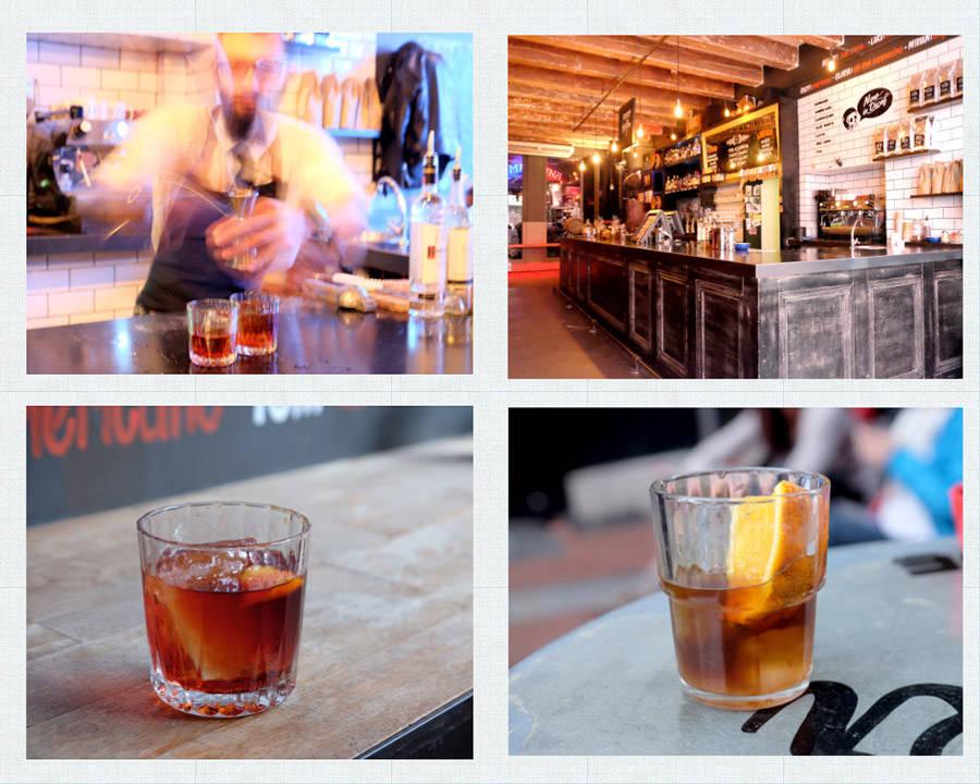 Drink to og tre er en «Rumtonic» med rosso, rom og campari og en «Hanky Panky» med Gin, fernet og rosso.