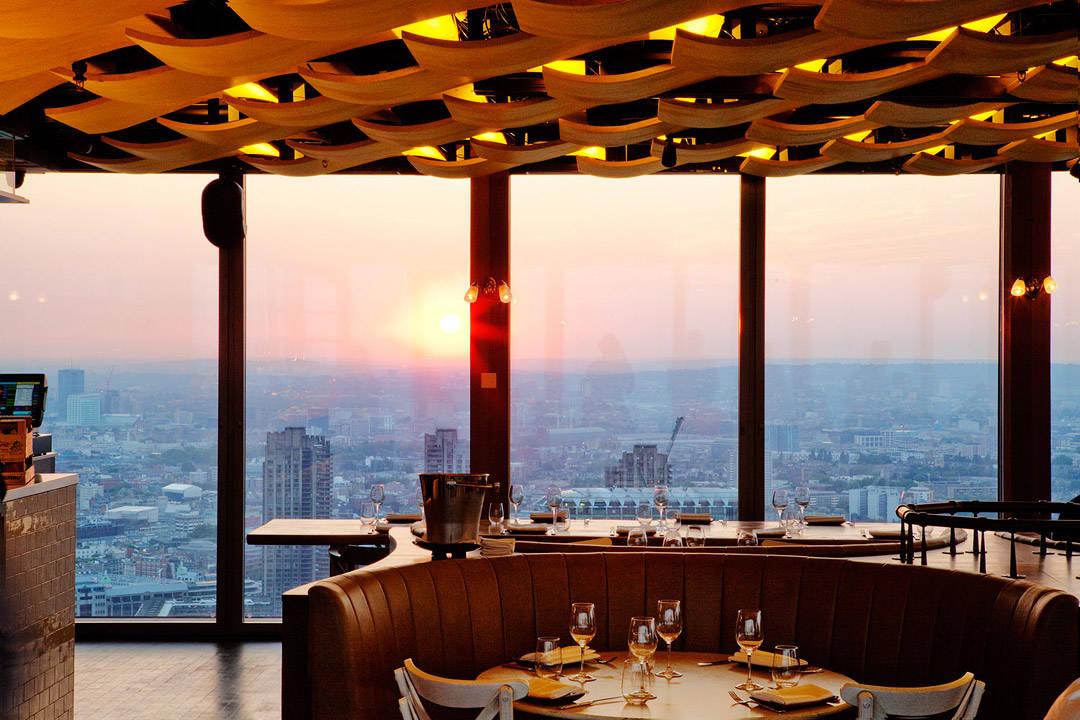 Fantastisk utsikt fra 40. etasje. (foto: Duck & Waffle)
