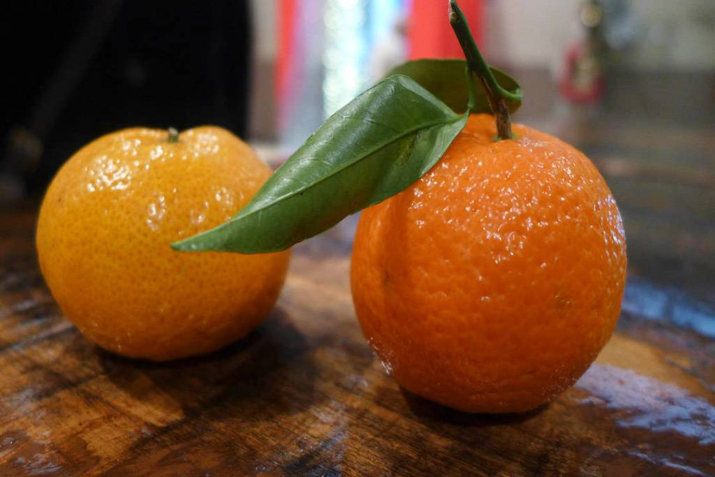 Mandarin og klementin.