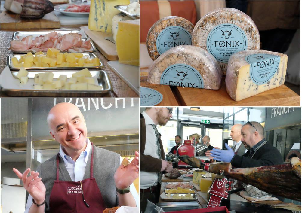 Norsk, fransk og italiensk ost i skjønn forening.