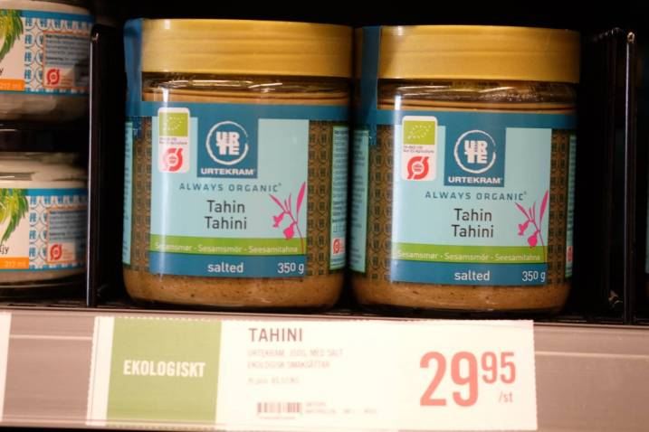 Tahini. Trendprodukt som passer perfekt til bl.a hummus.