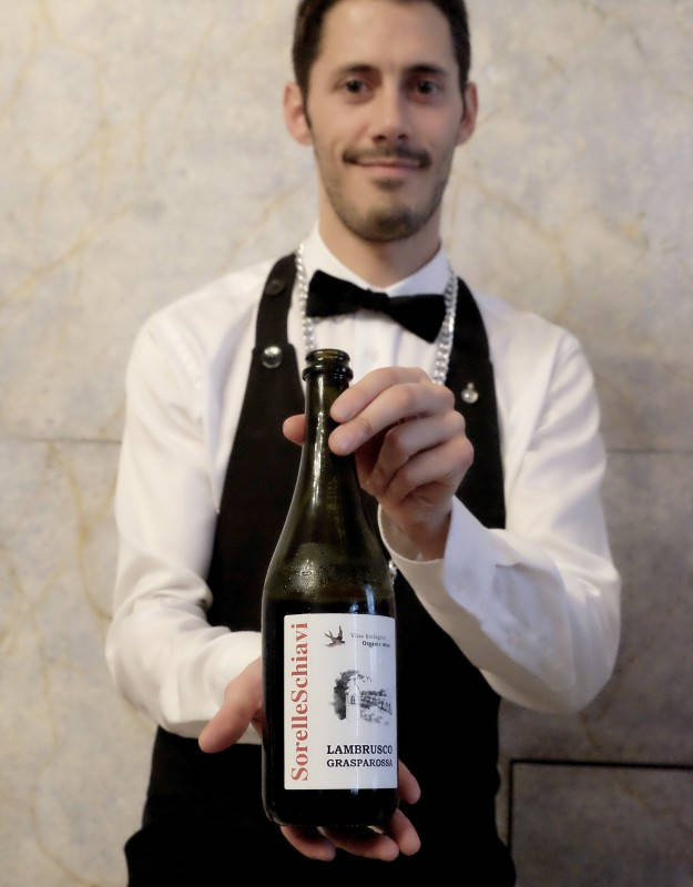 Økologisk Lambrusco. Sorelle Schiavi fra Azienda Agricola. En vin som passer perfekt til vegetarmat.