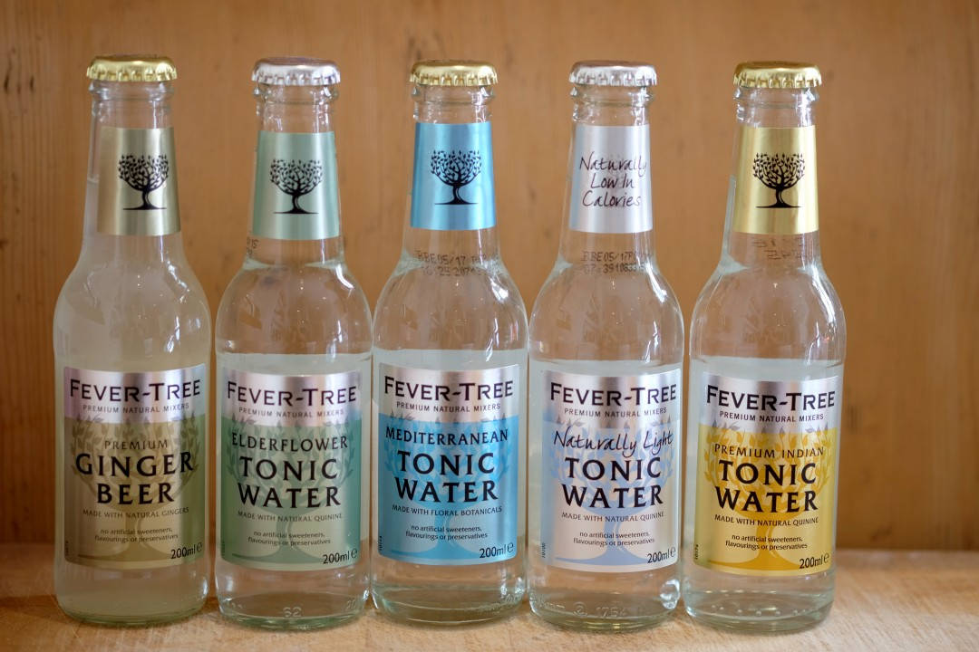 fever-tree: Tonic, Tonic light, elderflower tonic, mediterranean, ginger beer.