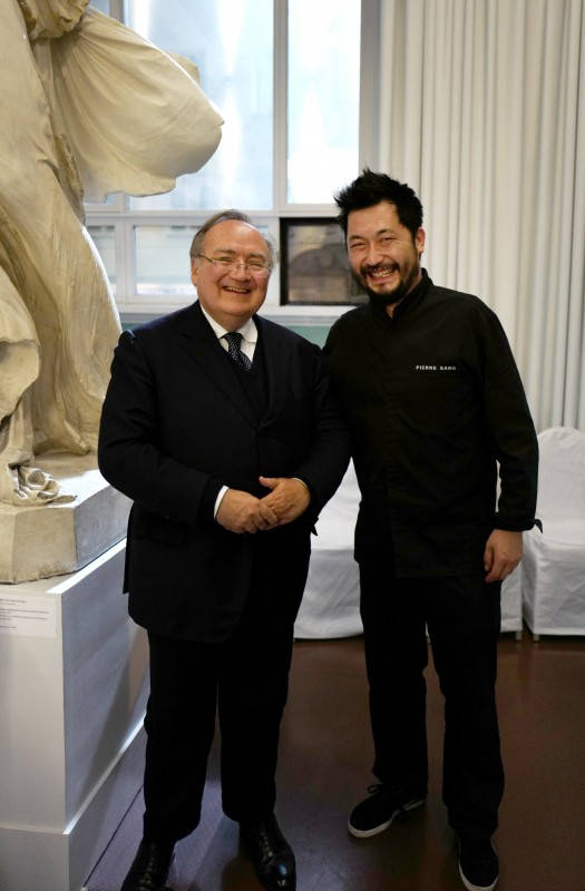 Ambassadøren ved den franske ambassaden i oslo, Jean-François Dobelle og Chef Pierre Sang Boyer