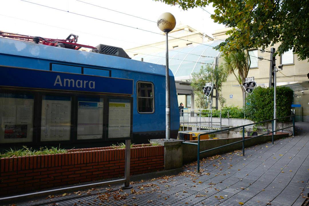Togstasjonen Amara i San Sebastian.