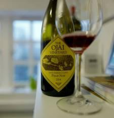 Ojai Santa Barbara Pinot Noir 2014 fra Ojai Vineyards koster kr 349. Superbløt pinot noir.