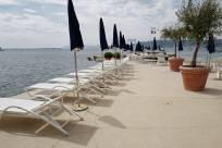 Stranden og gettyen på Belles Rives Hotel