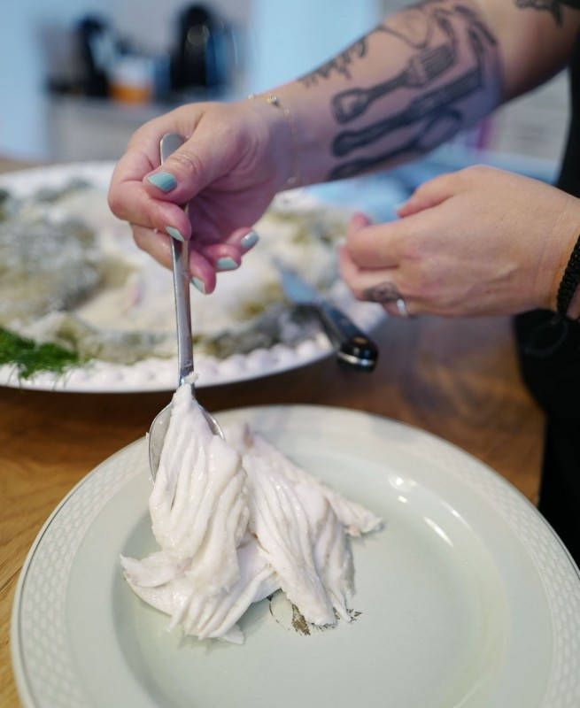 Foto: Helleskitchen.org. Saltbaking av fisk