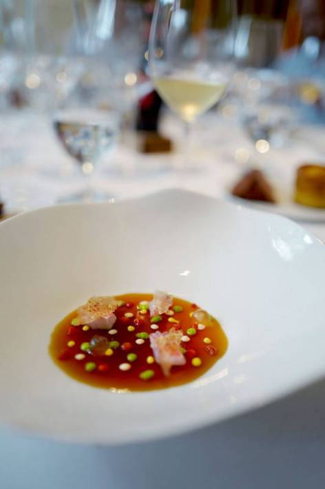Consommé of red mullet