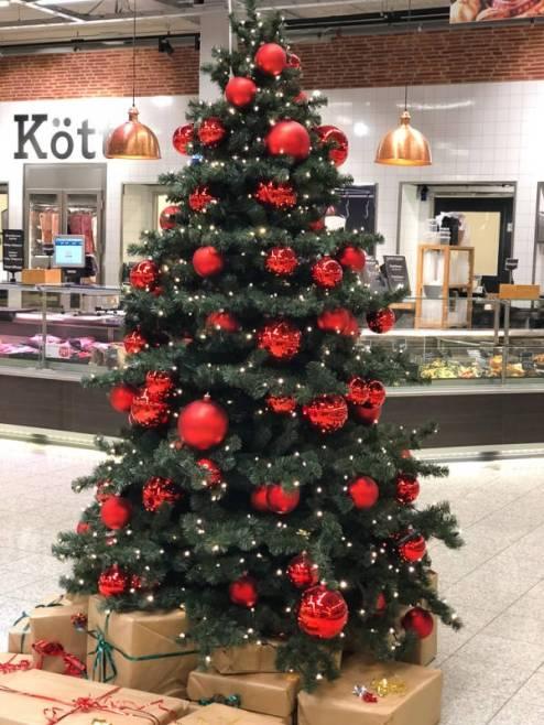 Fint julepyntet på Strömstad Mat.