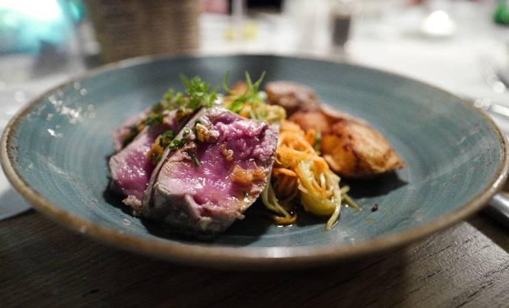 Perfekt stekt tunfisk.