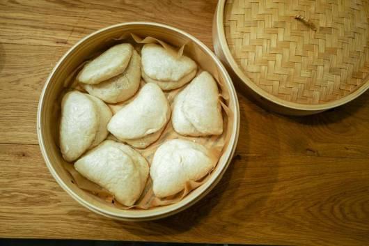 Ferdige Bao buns.