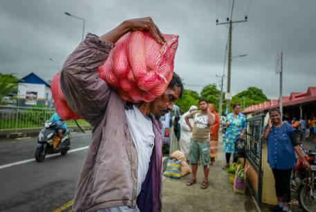 Grønnsaksmarkedet i Flacq.