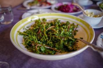 Disse grønnsakene vokser mellom vinrankene på Pheasnat's Teasrs.