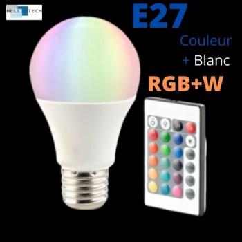 Ampoule LED RGB+W