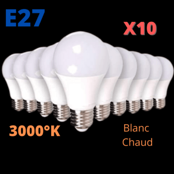 Ampoule LED 10W E27 LOT DE 10