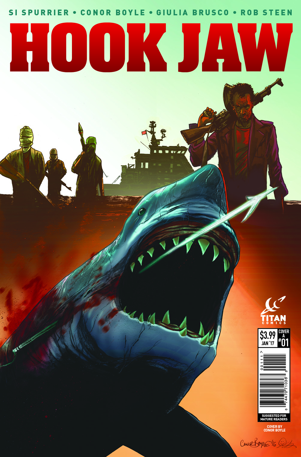 'Hook Jaw' #1 – Lettered, Interior Art Preview from Issue 1 Surfaces!