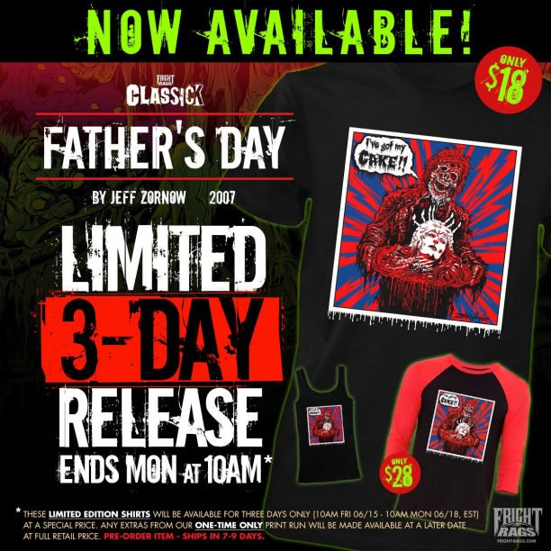 "Fright Rags Celebrates Father's Day Weekend with Limited ""Clas-sick"" Shirt Release of Jeff Zornow's 'Creepshow' Design"