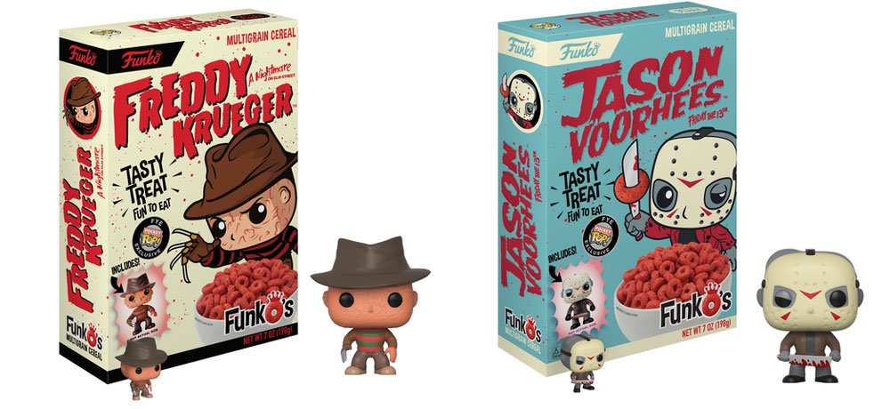 Funko Releasing New Horror Cereal Featuring Freddy Krueger and Jason Voorhees