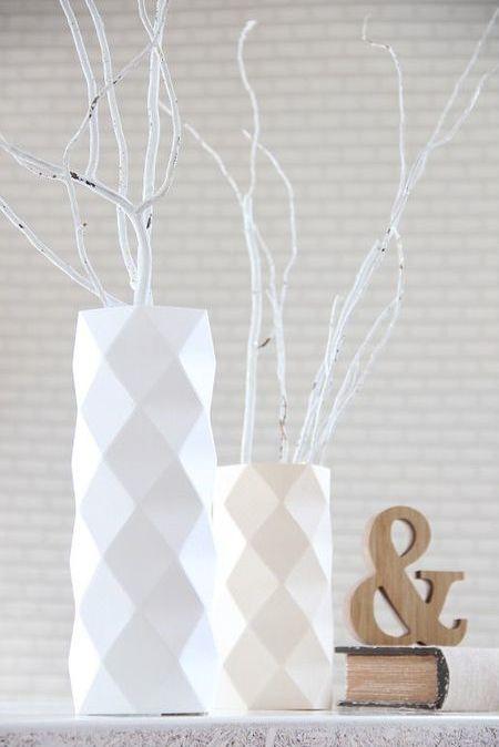 Des vases en origami