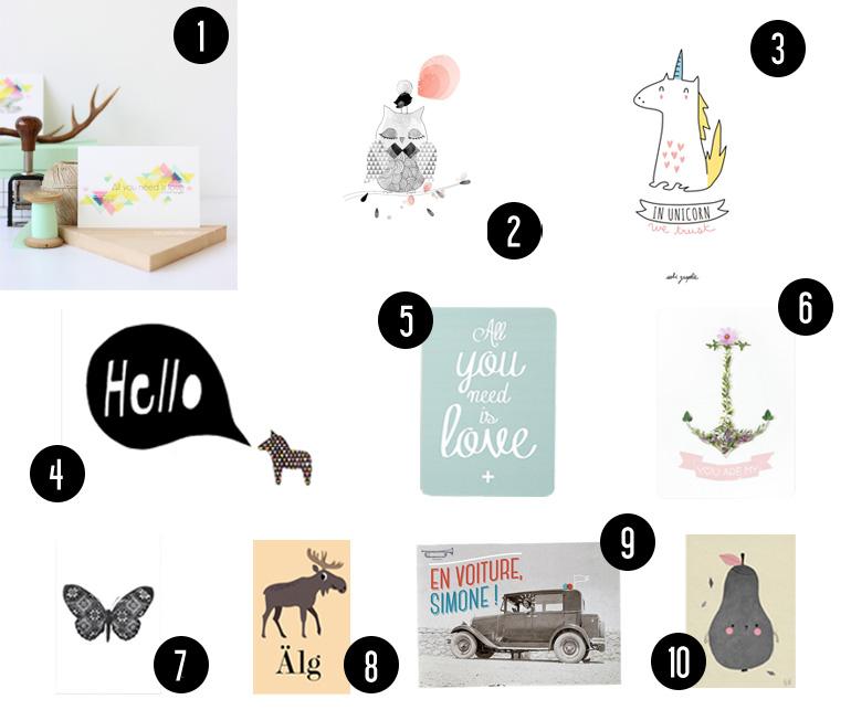 Cartes Postales Design // Hëllø blogzine www.hello-hello.fr