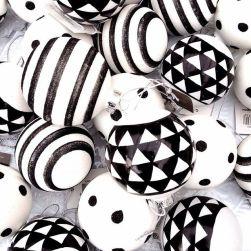 Boules de noël motifs géométriques