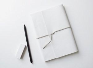 Carnet customisé avec du faux cuir