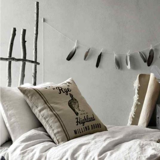 Linge de lit en lin écru