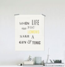 Poster Inspirant - Etsy - When Life Gives You Lemons Make a Gin And Tonic