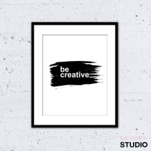 Poster Inspirant - Etsy - Be Creative