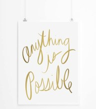 Poster Inspirant - Etsy - Anything is Possible