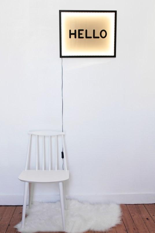 comment fabriquer une boite lumineuse murale. Black Bedroom Furniture Sets. Home Design Ideas