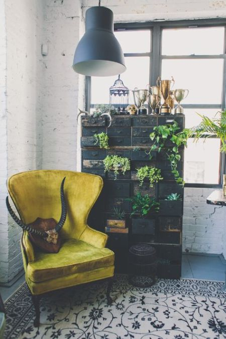 inspiration-deco-boheme-chic-fauteuil-velours-buffle