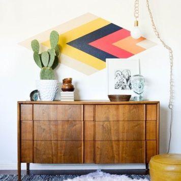 inspiration-deco-boheme-chic-fresque-geometrique