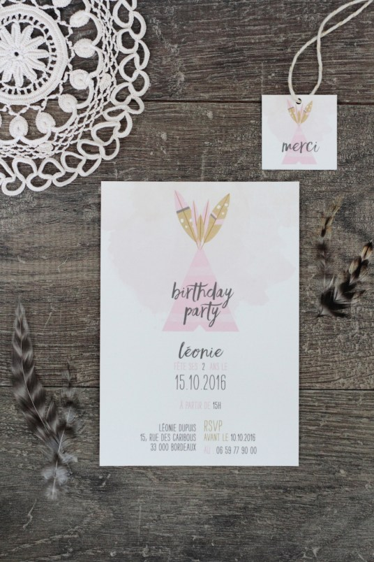 Boho Kid Birthday Invitation // Hëllø Blogzine www.hello-hello.fr